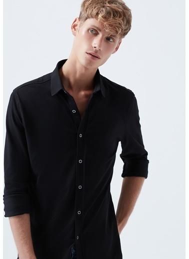 Mavi  Örme Gömlek Siyah